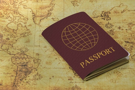 Time to escape using a passport and vintage map to help
